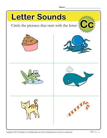 Letter Sounds C  Preschool Letter Worksheets Letter Worksheets