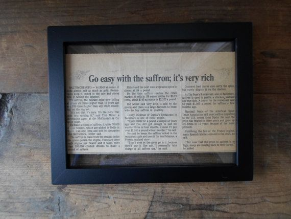framed newspaper article cooking article wall hanging by twistees 1650