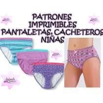 41a73d5393 Moldes Patrones Imprimibles Pantaleta Cachetero Panty Niñas ...