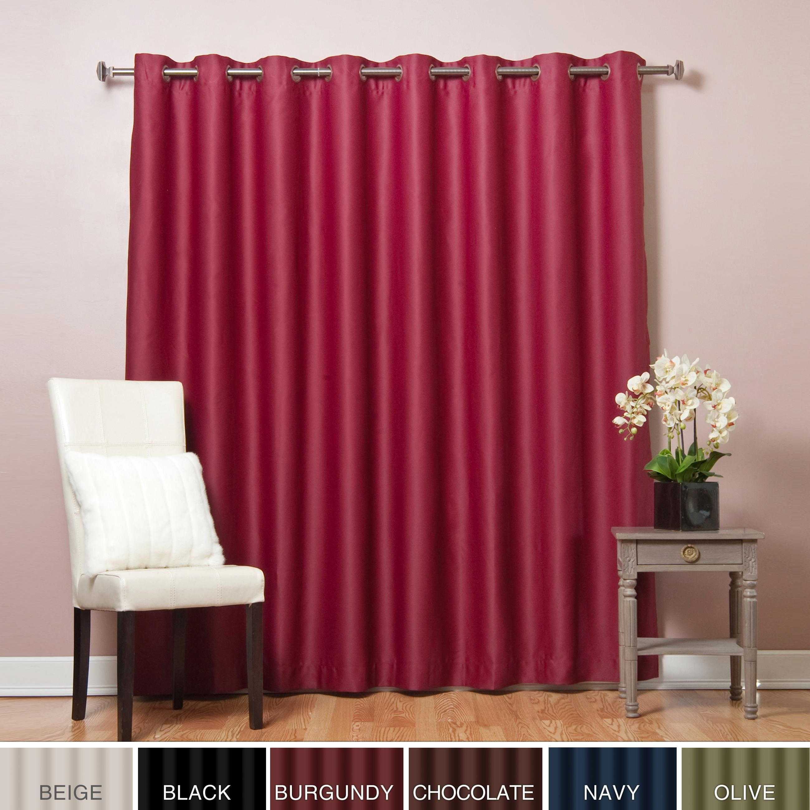 Aurora Home Extra Wide Thermal 100 X 84 Inch Blackout Curtain