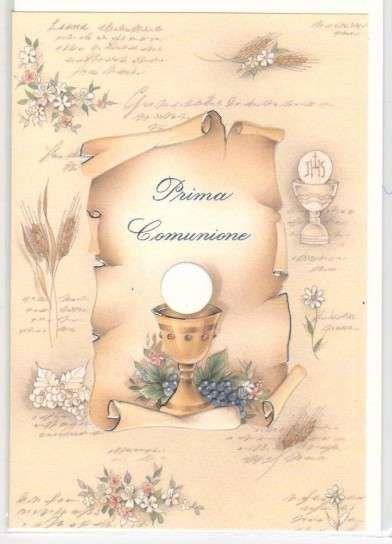pergamena prima comunione da