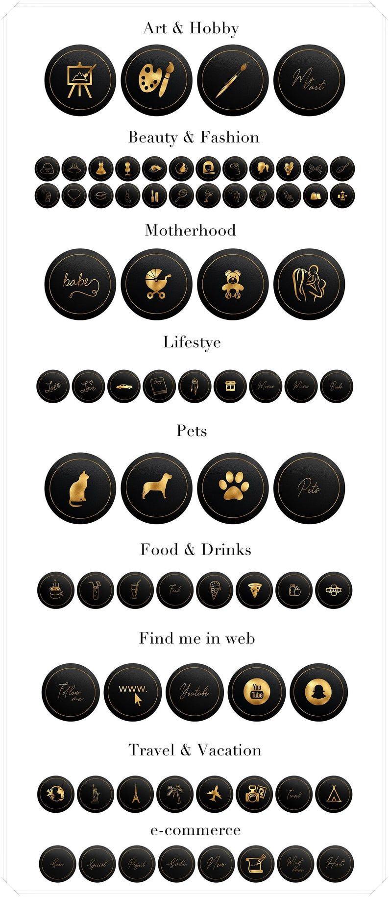 Okładki wyróżnienia na Instagramie Ikony Instagrama