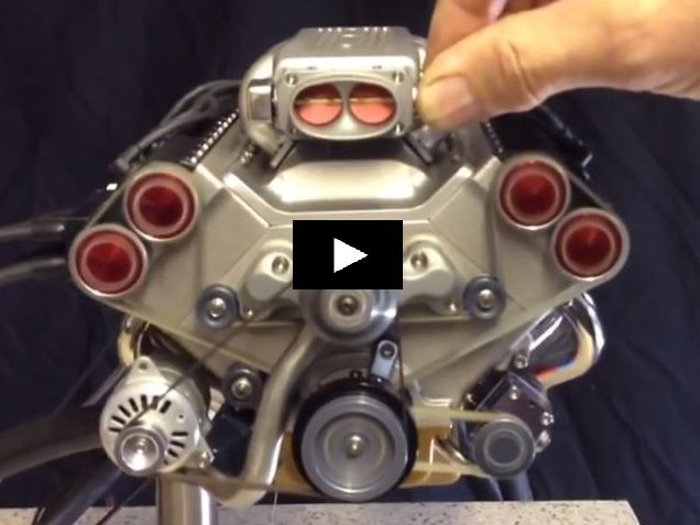 Mini V8 Engine Electronic Fuel Injection Idk Engineering Cars