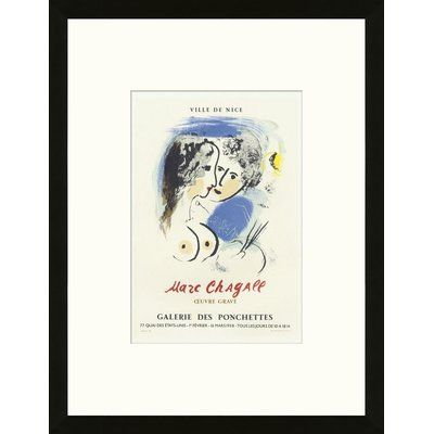 Artemis Editions School of Paris 'Oeuvre Gravé Nice 1953' by Marc Chagall Framed Lithograph