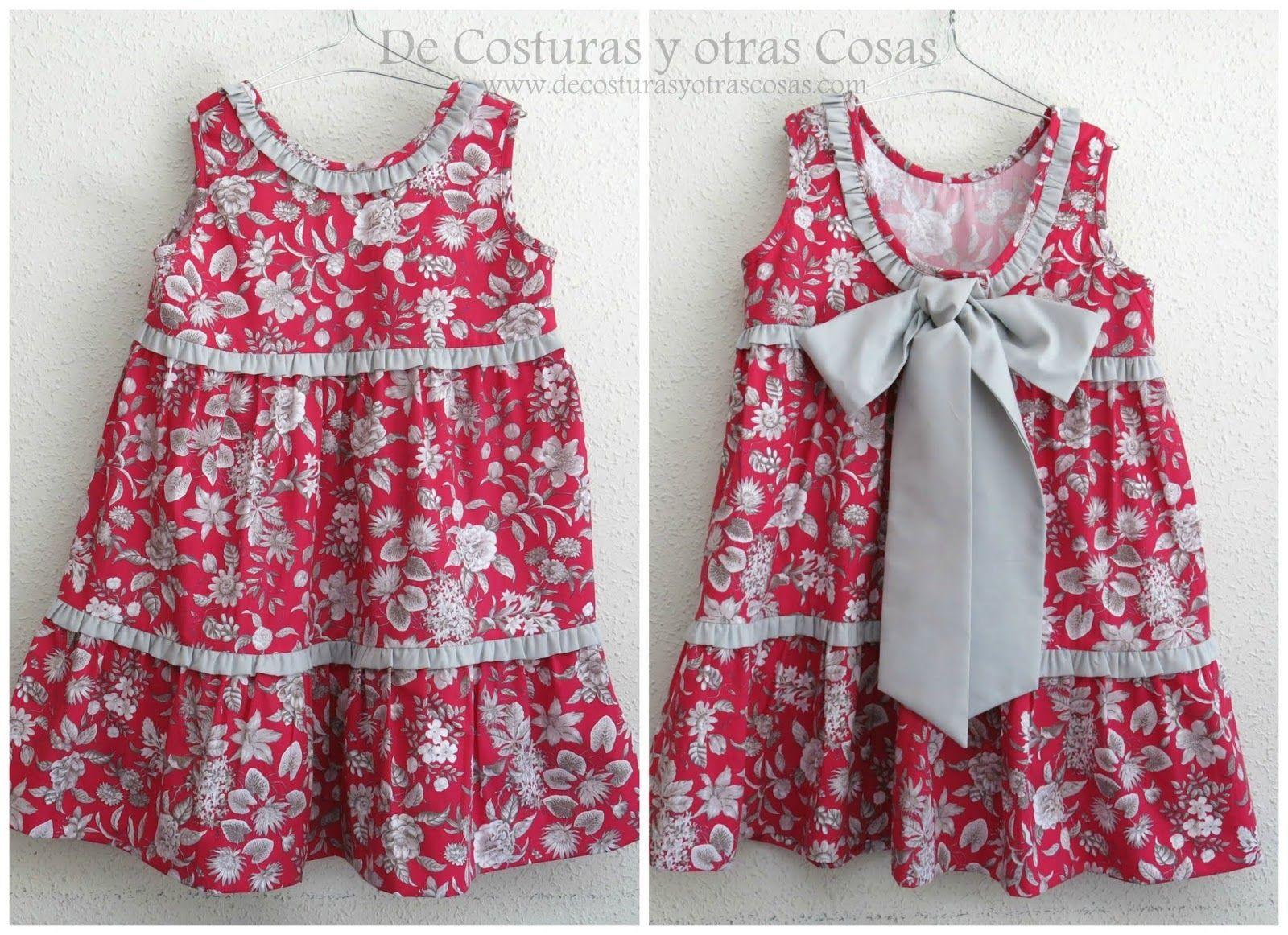1567c5ed6 vestido de verano para niña | patrones | Vestidos niña verano ...