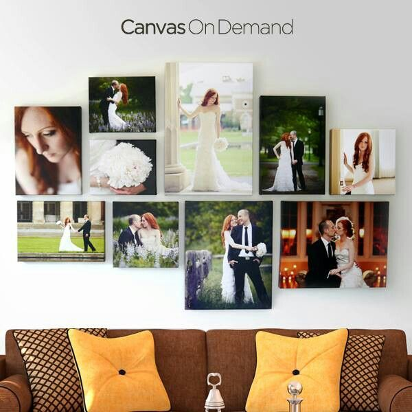 Wedding Canvas Photos Wall Would Look Good In The Bedroom