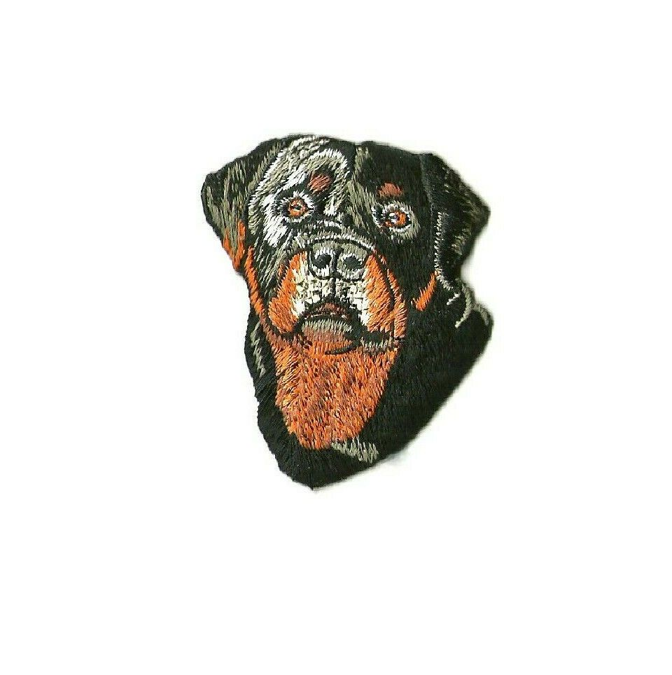 Rottweiler Iron On Embroidered Patch