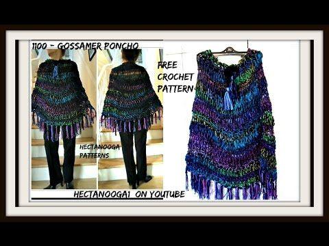 Crochet Open Mesh Big T Pullover Sweater Free Crochet Pattern