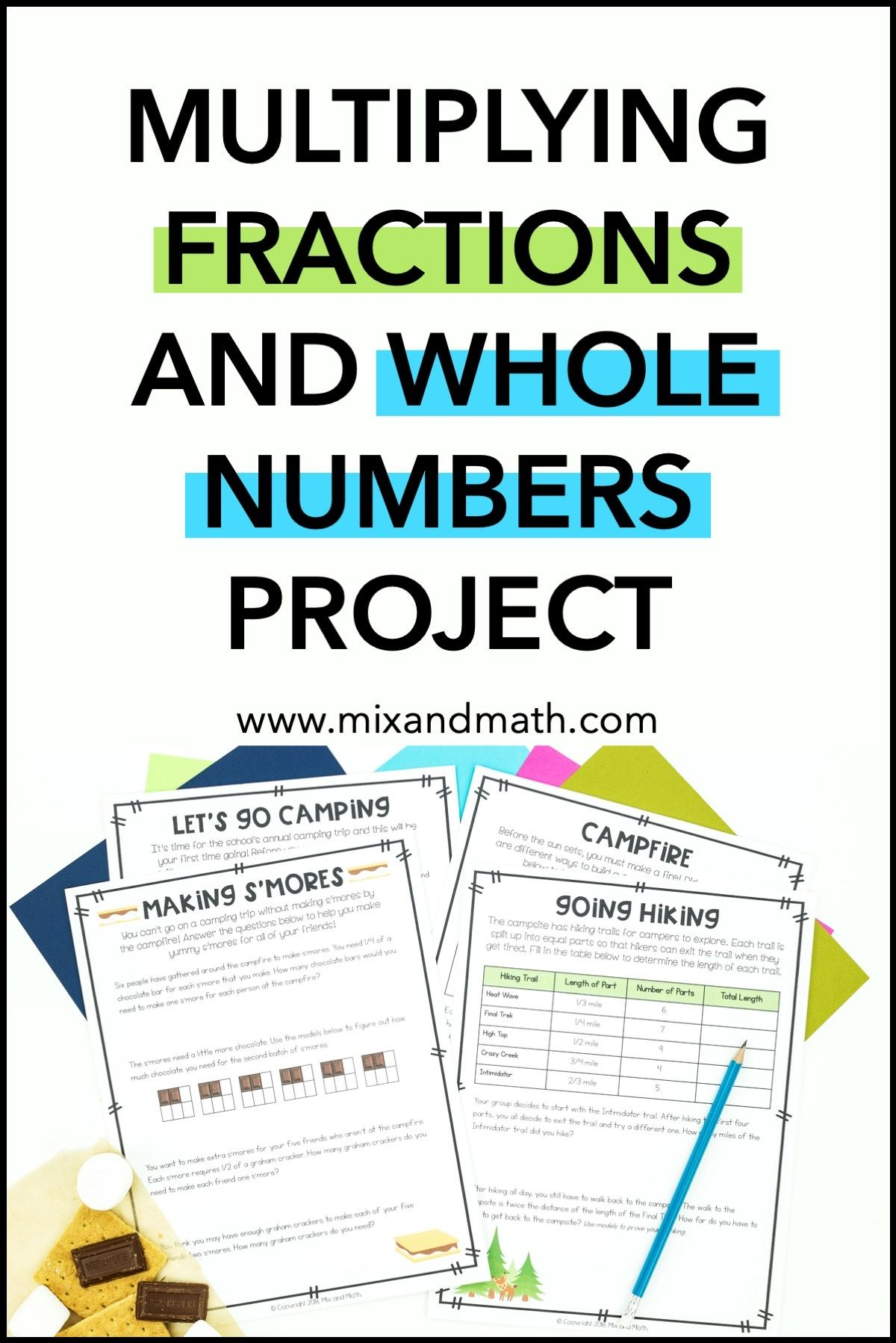 Multiplying Whole Numbers And Fractions Project