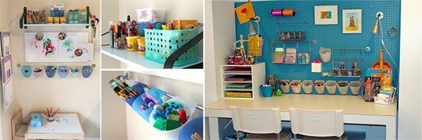 Activit s manuelles un coin bricolage salle de jeu pinterest coins and - Organisation chambre enfant ...