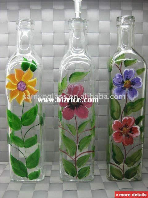 Painted Bottles Glass Bottle Painting Patterns Hand Painted