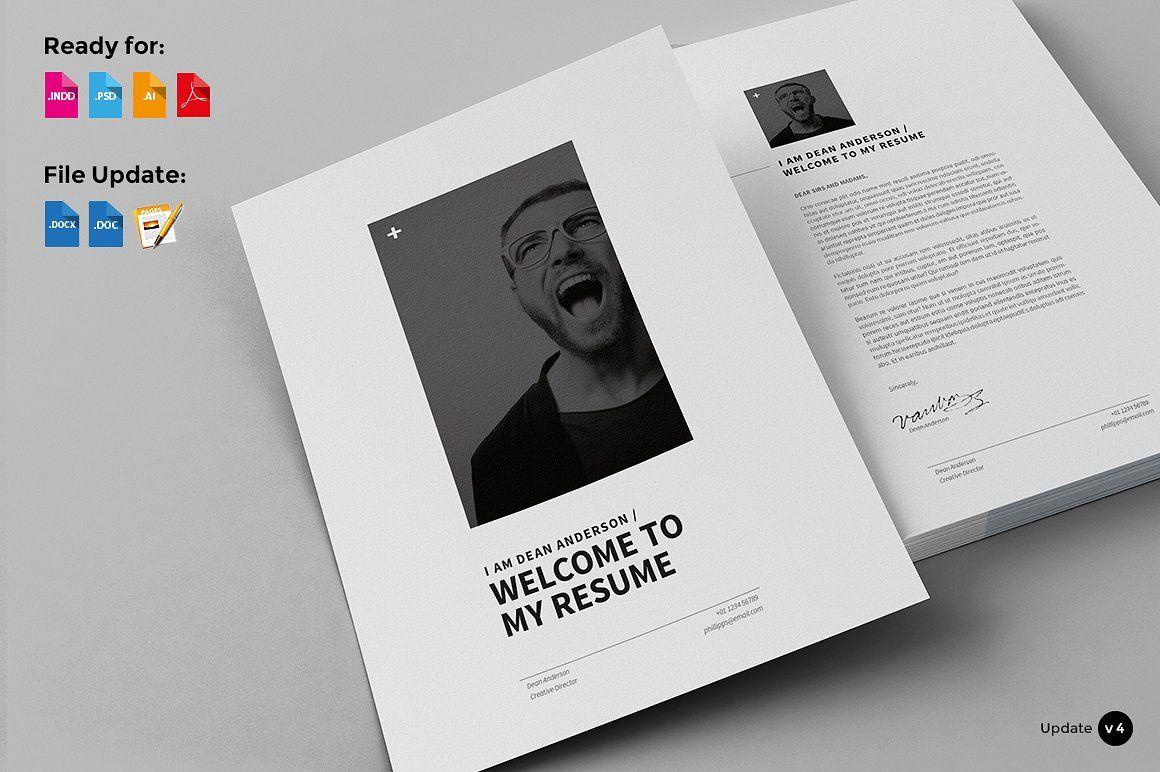 12 Pages - Minimal Resume CV by Egotype on @creativemarket | cv ...