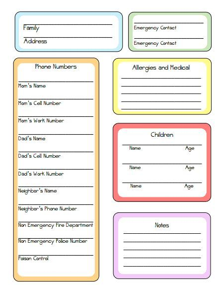 Nanny Tips and Printable! Nanny binder Nanny Pinterest Nanny - another word for babysitter