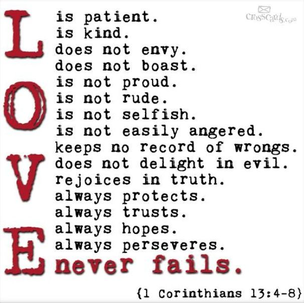 LOVE Conquers All! (1 Corinthians 13: 4 8) Love This Verse