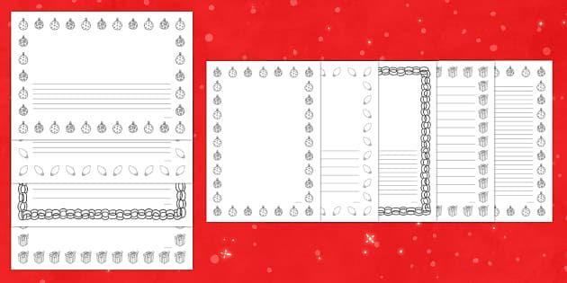twinkl.co.uk. Christmas borders | Christmas coloring pages ...