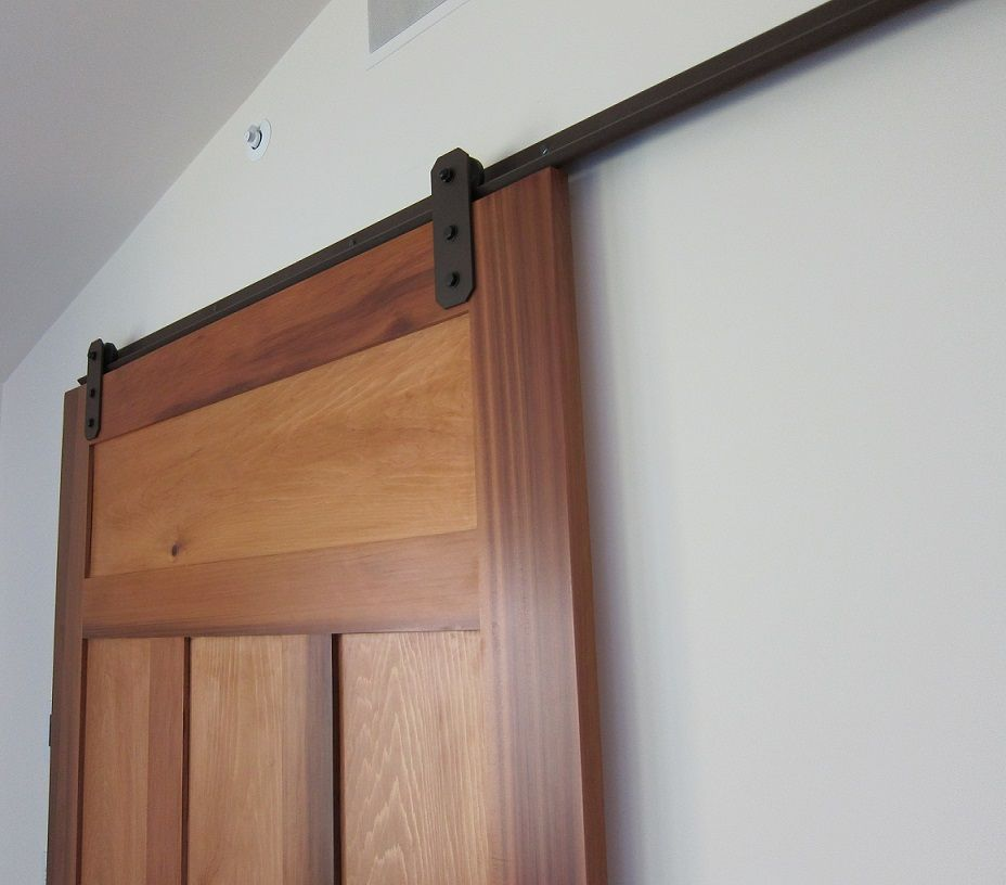 low profile barn door hardware