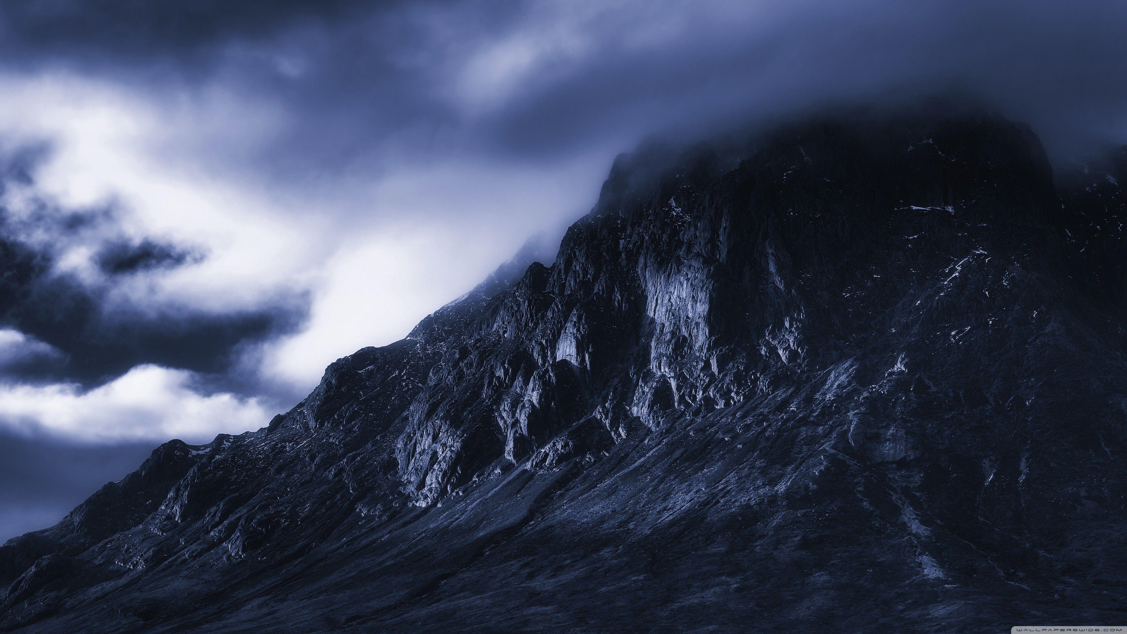 Res 3840x2160 Uhd 16 9 Dark Mountains Mountain Wallpaper 4k Background