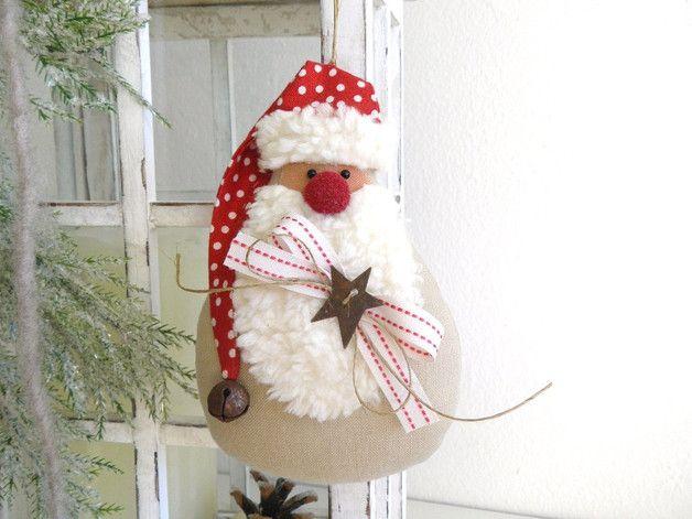Ein wunderschöner Deko - Weihnachtsmann zum aufhängen oder ...