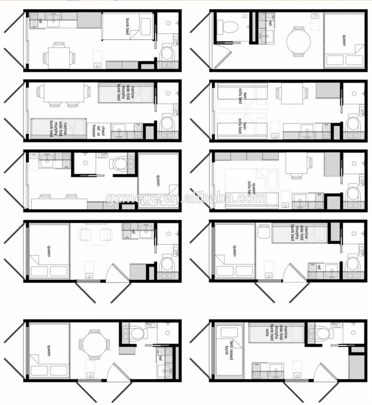 40 Feet Container Homes: 40 Foot Shipping Container House Layout