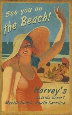 Beach Wall Art That Captures The Fun In The Sun Beach Posters Vintage Beach Signs Beach Signs