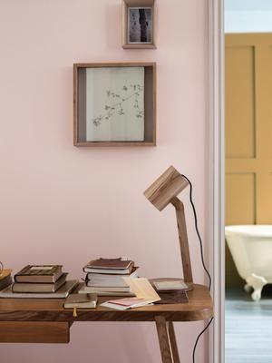 Kleurinspiratie. Je moet het wel durven. Een roze wand in je ...