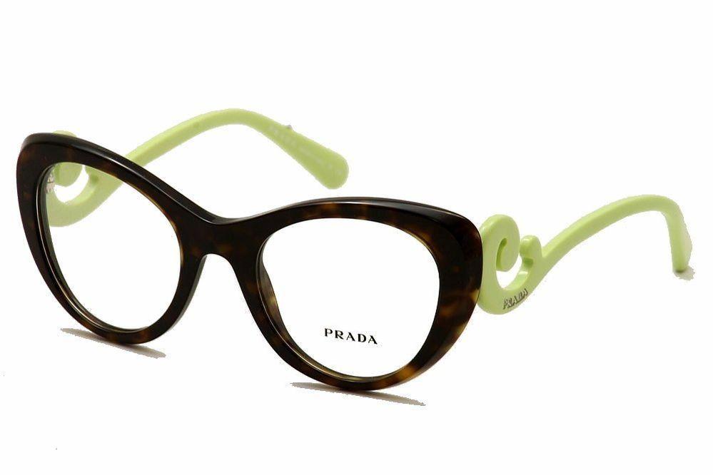 7365b5a60d2 Prada Women Eyeglasses VPR06Q VPR 06Q 2AU-1O1 Havana Full Rim Optical Frame  51mm