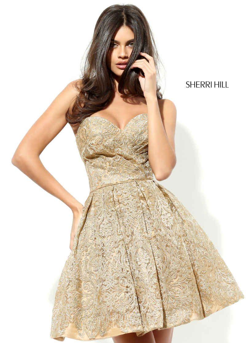 Lust auf Herbstfarben: Dein Abendkleid in Kurz #sherrihill #seicrusz ...