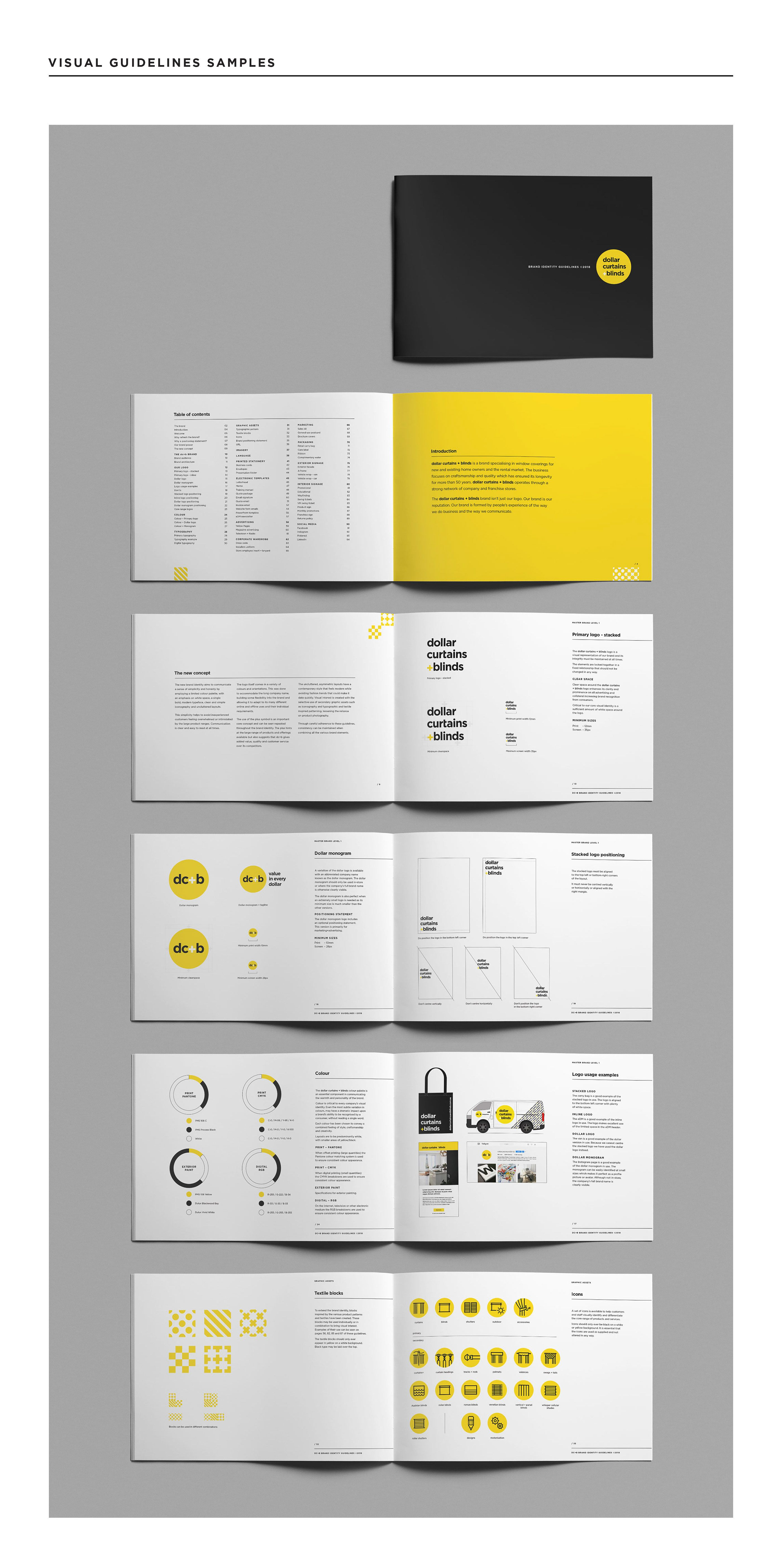 DC+B Brand Identity on Behance Brand guidelines design