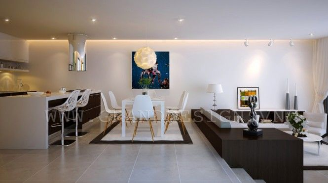 Vietnamese interior by grand design open plan apartments and open plan living