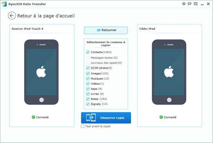 Transférer data de l'ancienne ipad à la nouvelle iPad mini 3