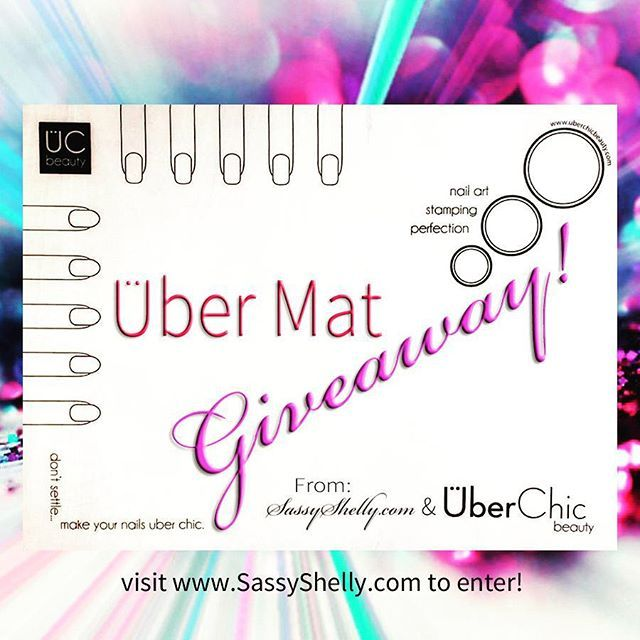 Surprise!! @uberchicbeauty & I are giving away this year's must-have nail art invention, a brand new #UberMat! Head over to www.SassyShelly.com to enter via rafflecopter. *Sharing this image on IG & FB will count for Bonus Entries (just drop the link to your post into the entry box). Official hashtag #UberMatGiveawaySS. :) Good Luck Nailistas!!! <3