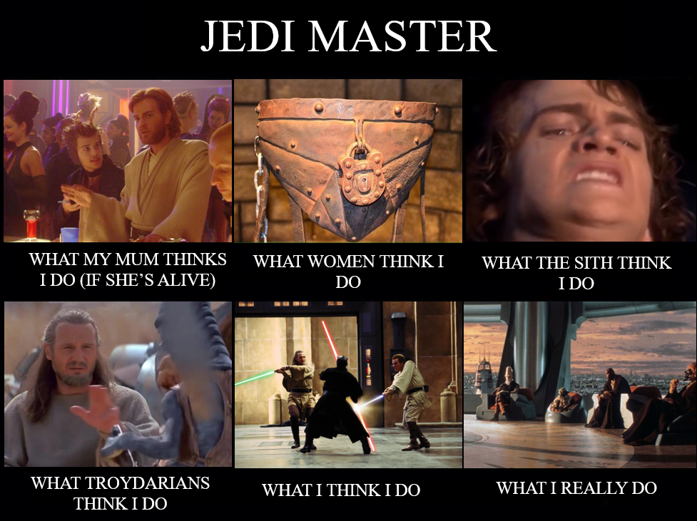 It's an old meme format Sir but it checks out Star wars