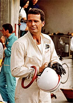 James Garner - in the movie Gran Prix but also raced in several events outside of the movies.