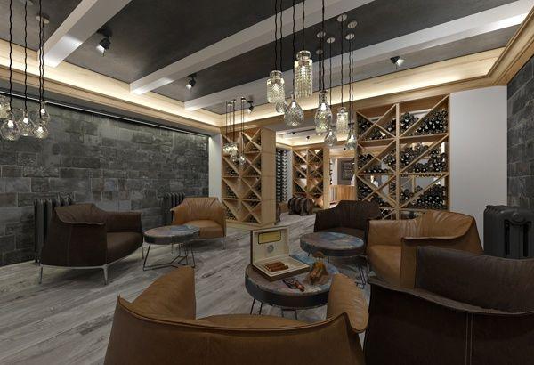 Дизайн интерьера винотеки в СПб