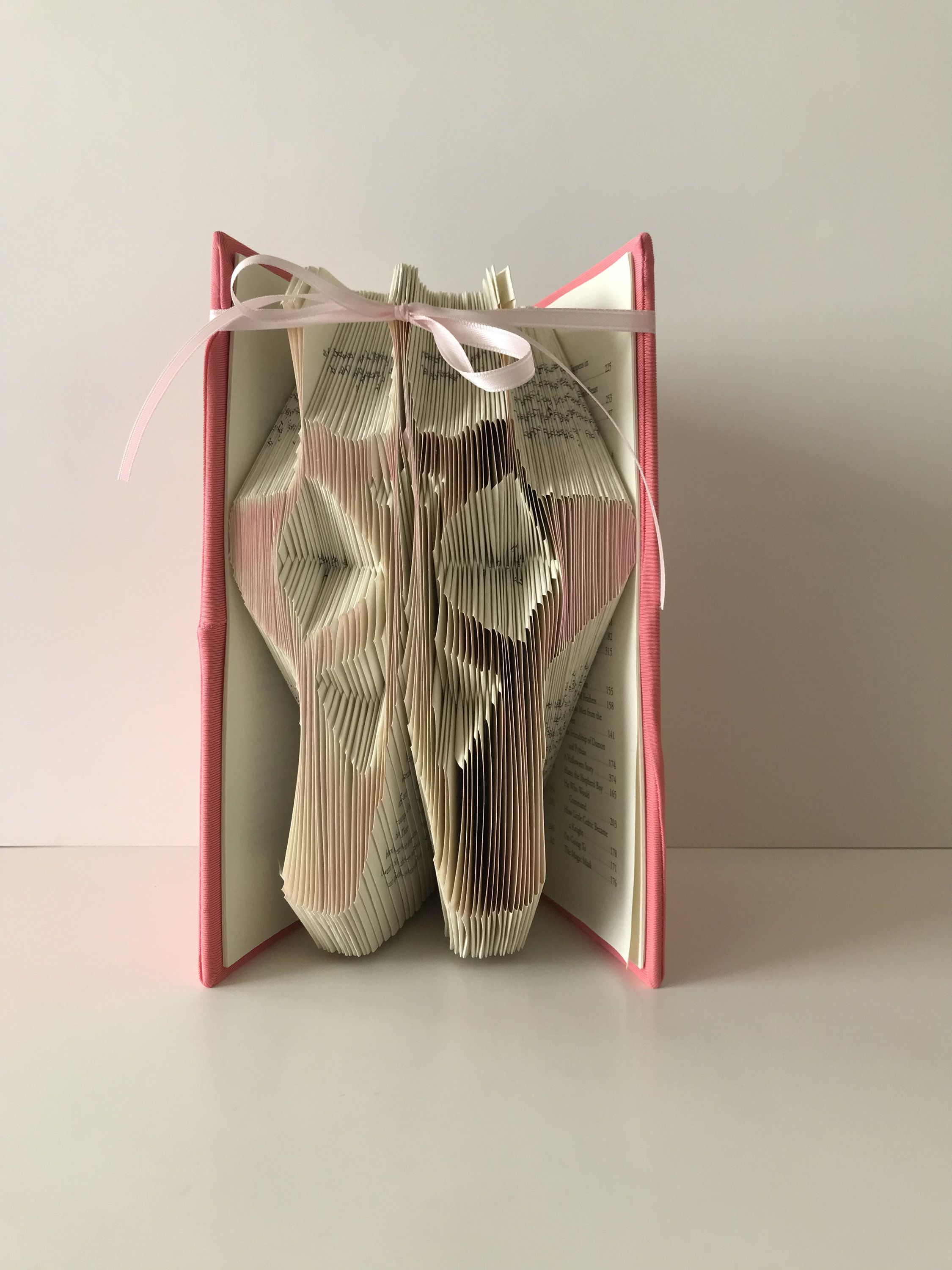 Ballet Shoes Book Fold Ballerina Gift Dancer For Her Personalized