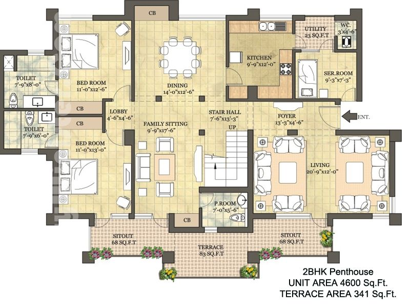 Penthouse floor plans floor plans layout plan location map overview projetos pinterest - Lay outs penthouse ...