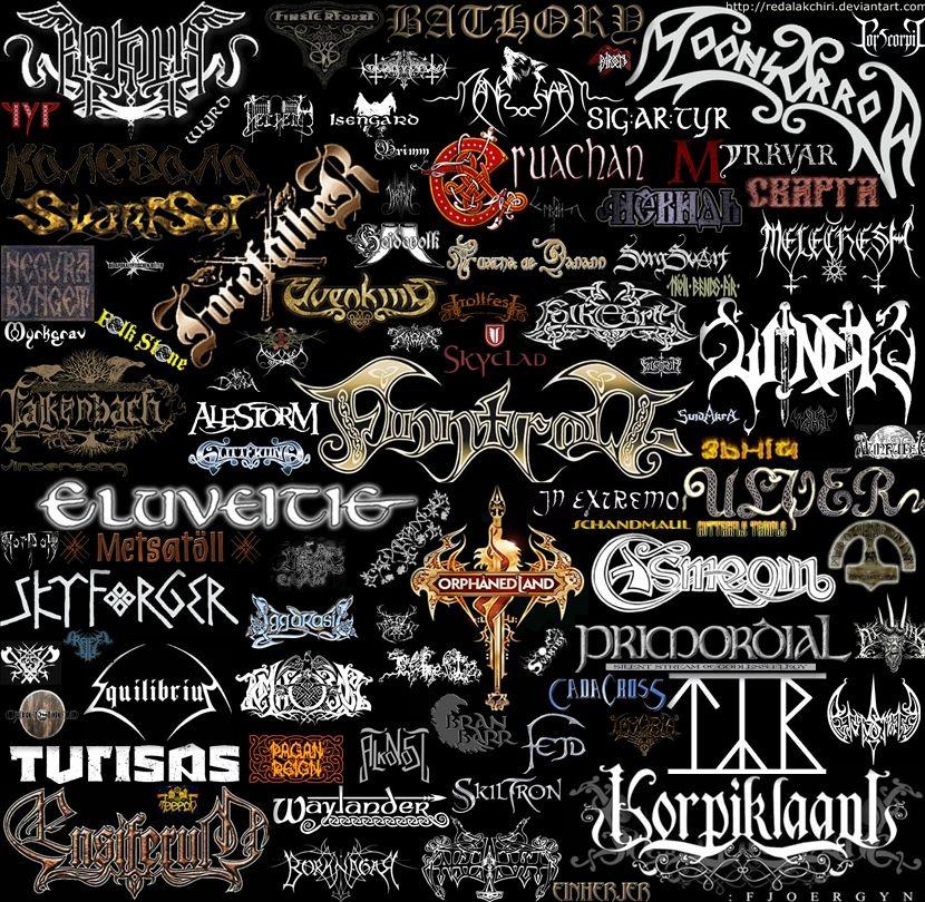 Folk Metal Viking Metal Metal Band Logos Metal