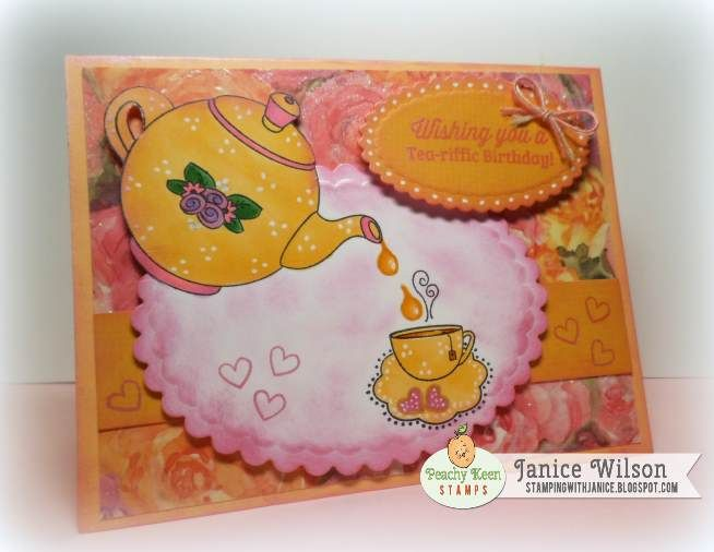 PKSC-25 January 2014: Peachy Keen Stamps   Home of the original clear, peach-tinted, high-quality whimsical face stamps.