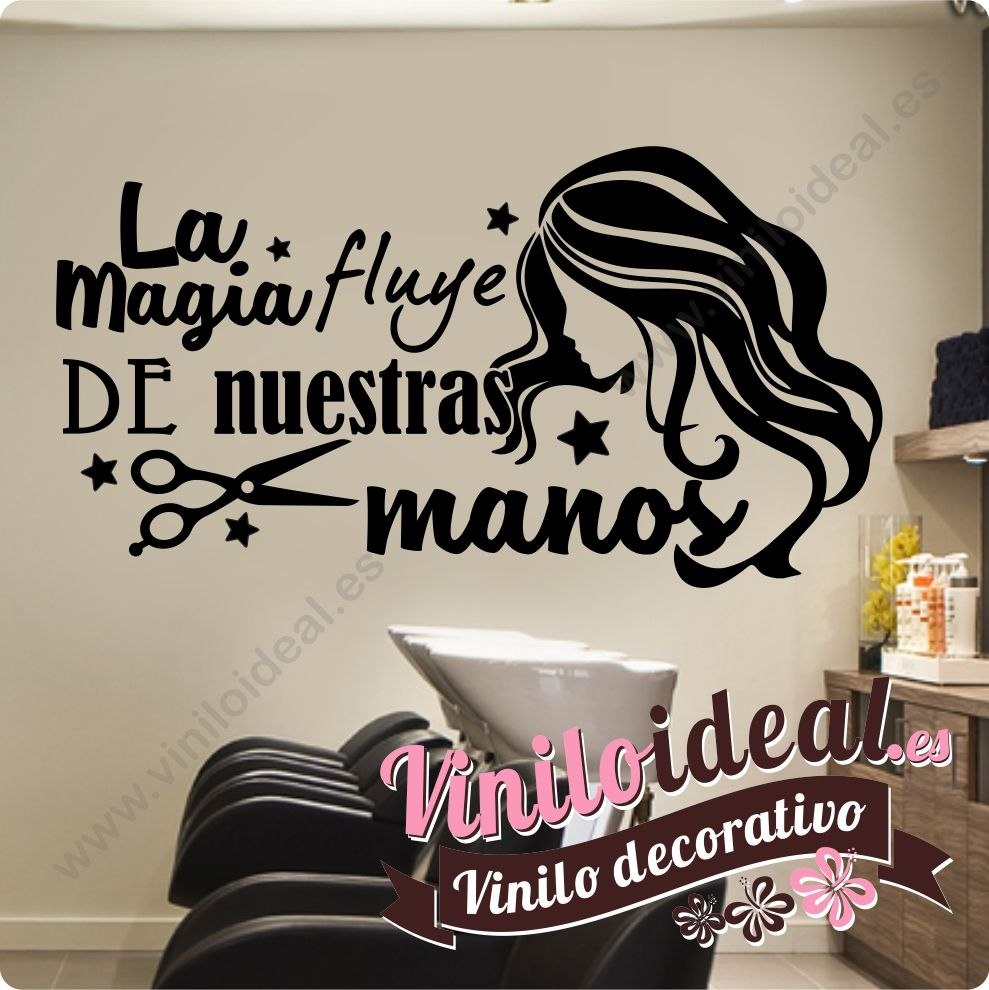 Vinilo decorativo adhesivo para peluquerías y estéticas ...