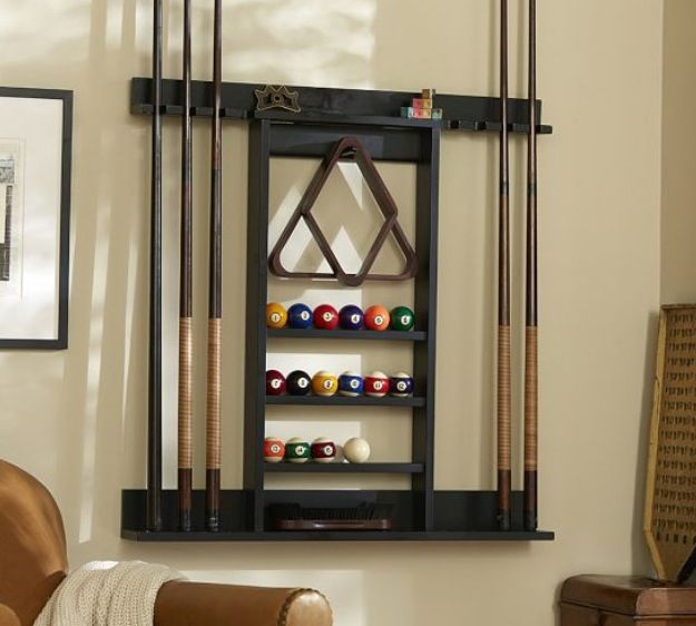 Pool Stick Holder Pool Table Accessories Pool Table Room Diy Shoe Rack