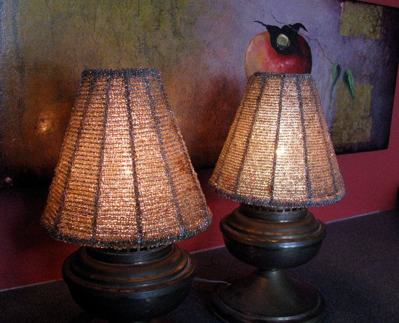 Vintage beaded lamp shades my home bits of me for How to make beaded chandelier lamp shades
