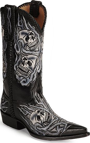 97ab8707c53 Men's Old Gringo Tenebror skull western boots. Not really my style ...