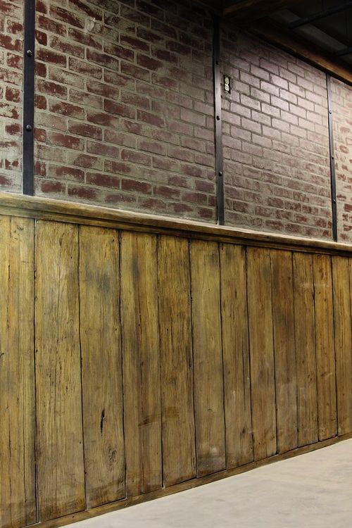 We Used This Wood Wall For The Wainscoting Look And Paired