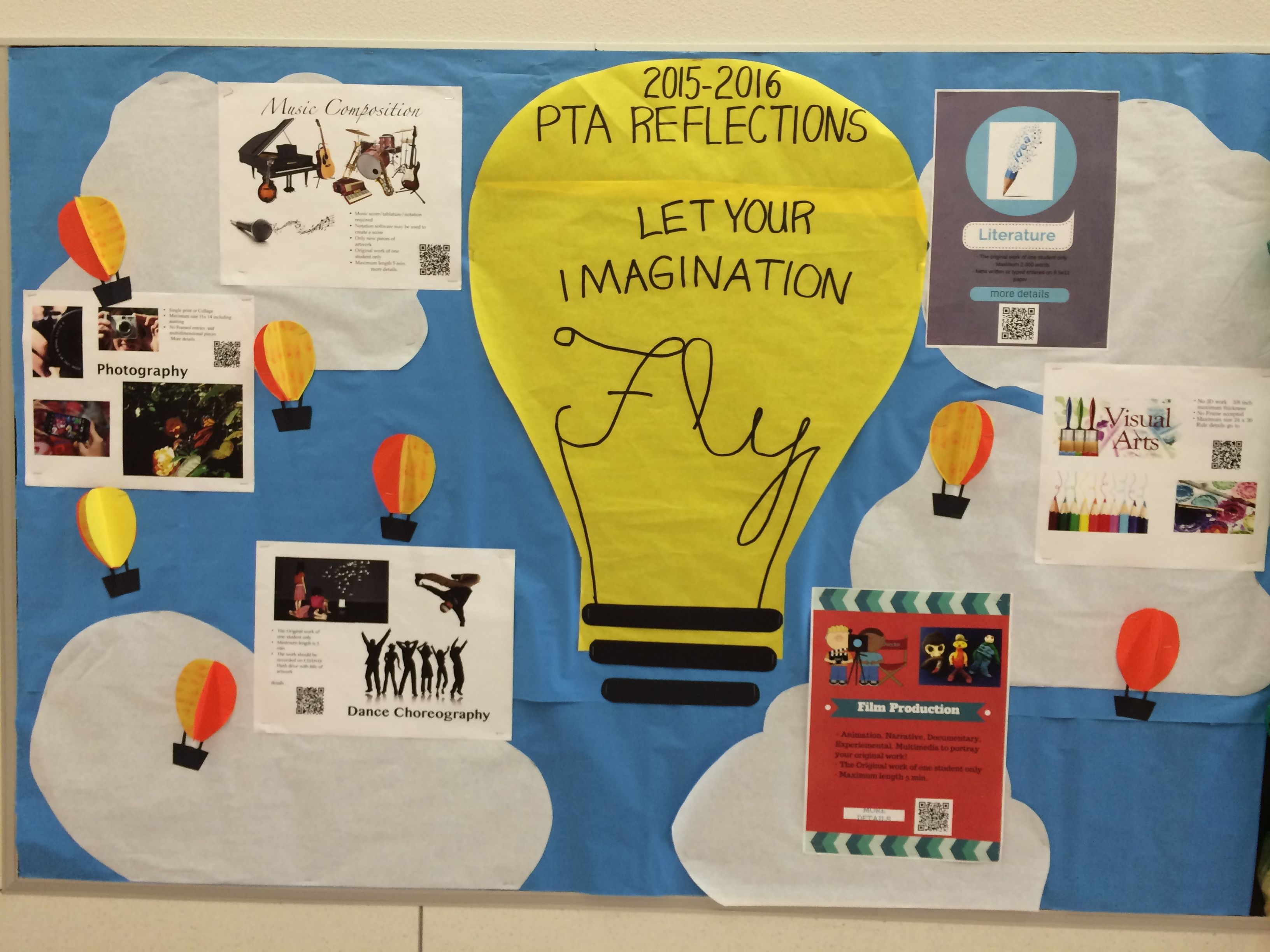 PTA Reflections 2015-2016 Let Your Imagination Fly bulletin board ...