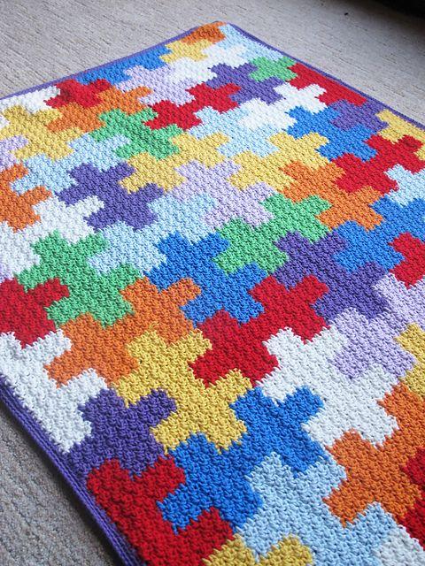 Crochet Puzzle Pieces … Super Fun