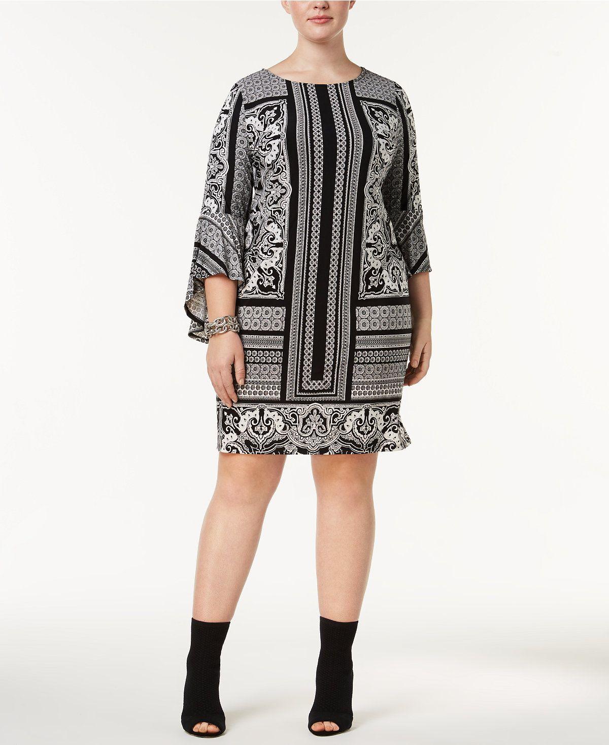 09f4f38b96c9 INC International Concepts Plus Size Printed Shift Dress, Created for  Macy's - Dresses - Plus Sizes - Macy's