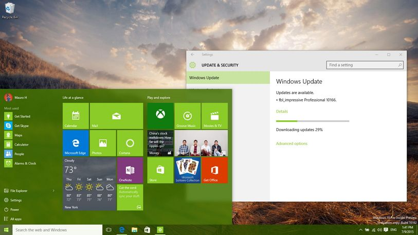 Windows 10 build 10166 (Fast ring) rolls out with