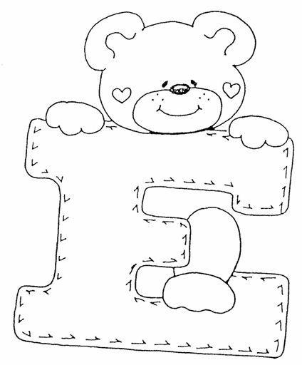 Adoro esse alfabeto de ursinhos.... Eu usei eles para fazer o Móbile ...