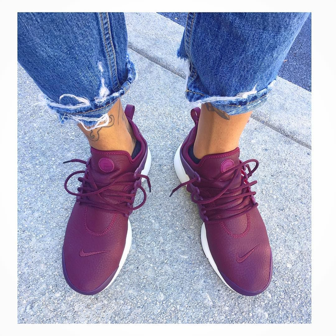 the best attitude 34cf4 a97a5 My leather so soft 😎 Plum leather women's presto #TY1 ...