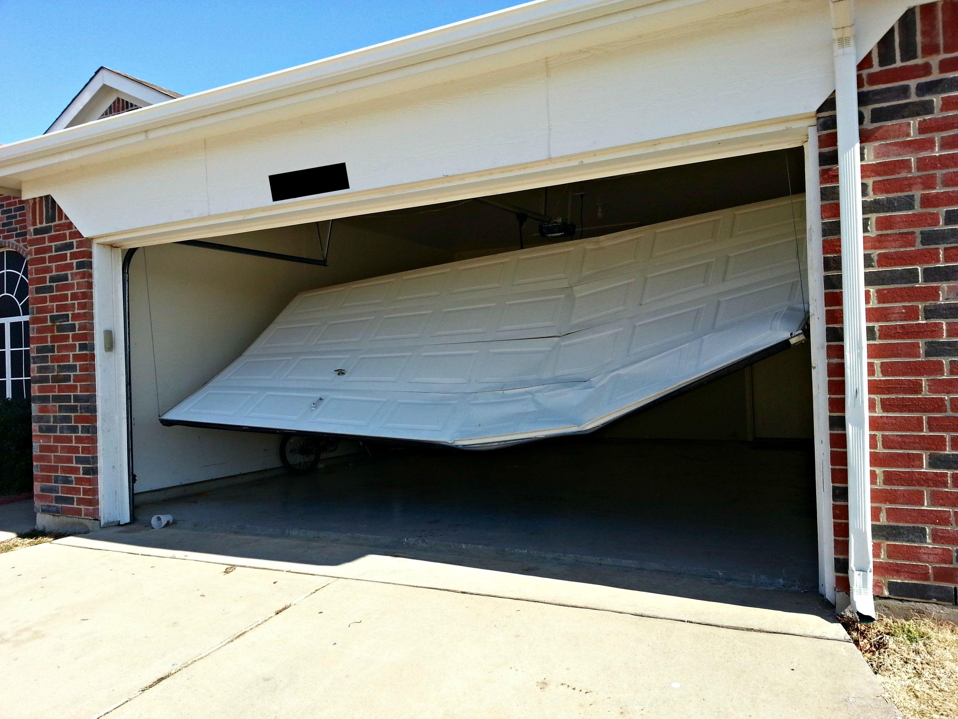 Fixing Your Broken Garage Door Opener Broken Garage Door Garage